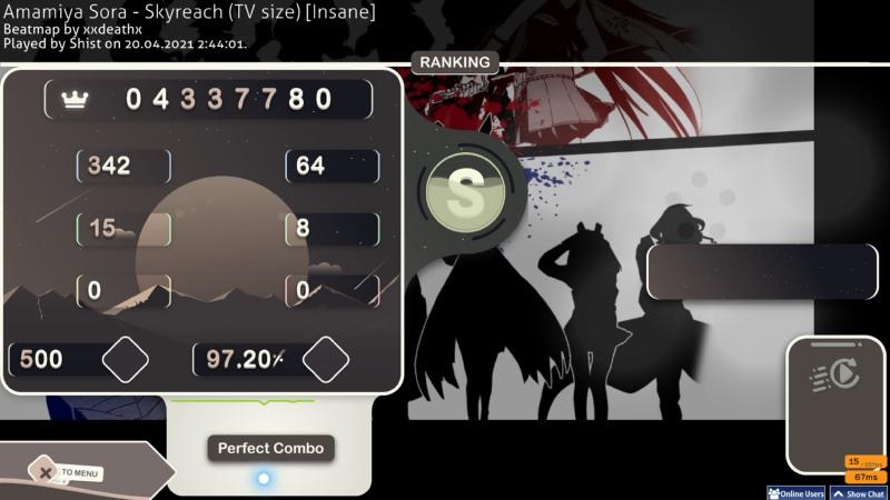 Shist's playing Amamiya Sora Skyreach TV size Insane 97 20% x500 500 109 pp