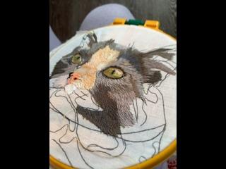Феня   Вышивка портретов животных