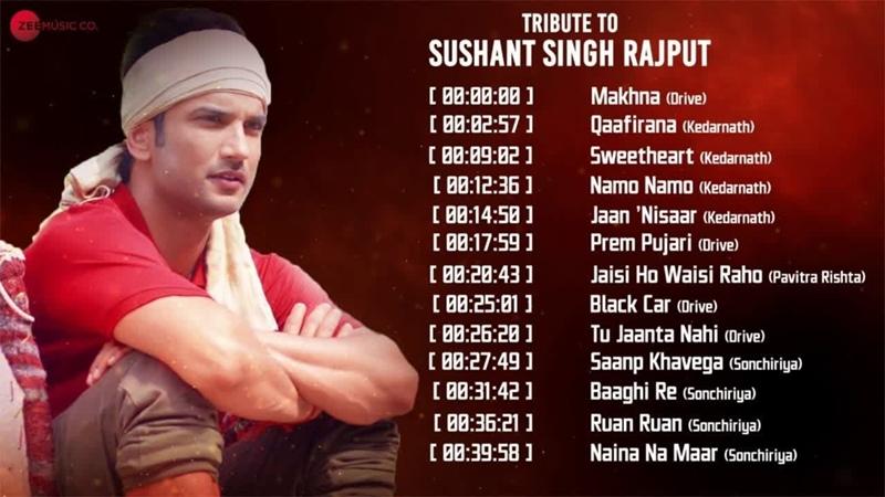 Tribute to Sushant Singh Rajput Makhna Qaafirana Sweetheart Namo Namo Vid