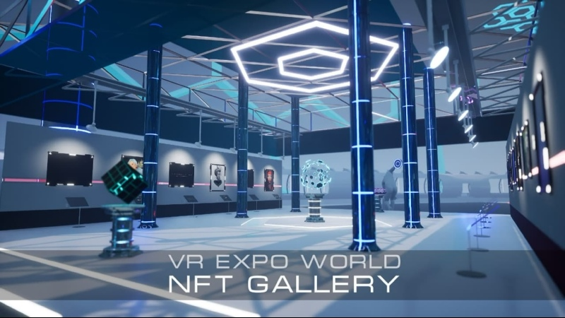 NFT галерея в VR Тизер VR Expo World