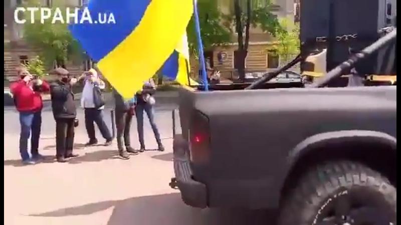 Одесса. Из громкоговорителя раздается голос на немецком языке, призывающий людей соблюдать