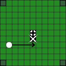 Хнефатафл (тавлеи) -  Возможные способы «срубания» фигуры противника (4)