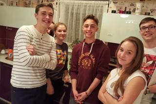 Визит молодежи из Познани в 18 Лицее Калининграда