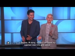 Mario Lopez Joins Ellen for Memorable Staff Moments RUS SUB