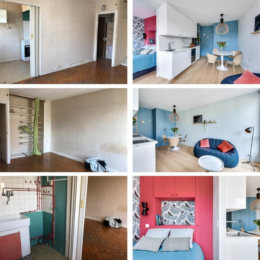 До и после: обновленная квартира-студия 26 м в Париже.