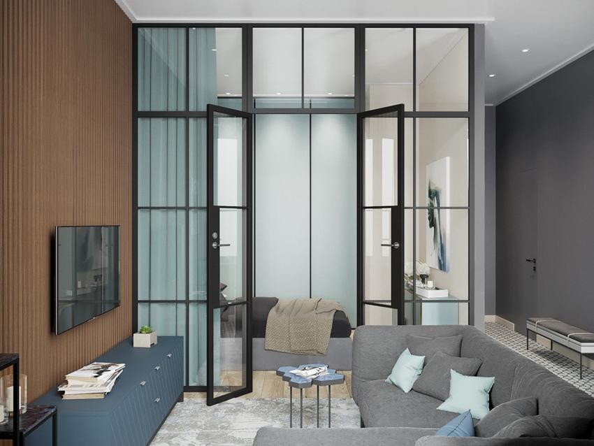 Проект квартиры 37,5 м для девушки.