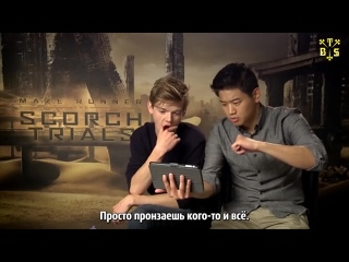 "[TBSubs] Интервью ""Niki and Sammy"" с кастом ""Maze Runner: The Scorch Trials"" (Томас, Ки Хон, Кая) (рус.саб)"