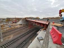 На мосту в Новой Жизни укрепляют откосы