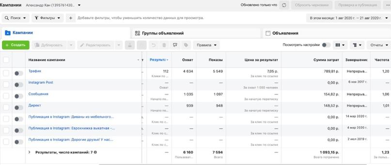 Продвижение мебели в Instagram и ВКонтакте | Таргет в ВК и Инстаграм