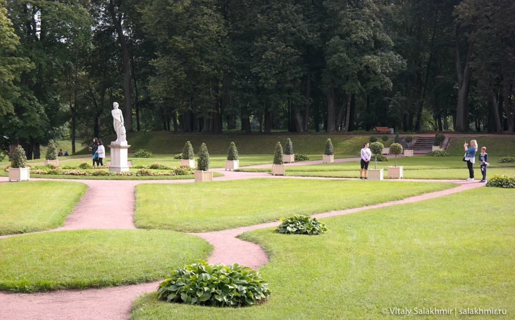 Парк около гатчинского дворца, путешествие 2020