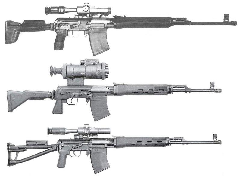 Различные варианты опытных винтовок СВДСE.C. Ezell