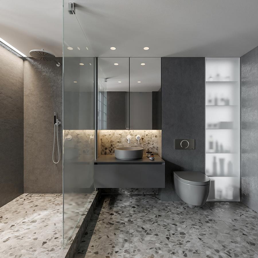 Проект двухуровневой квартиры-студии 25 кв.