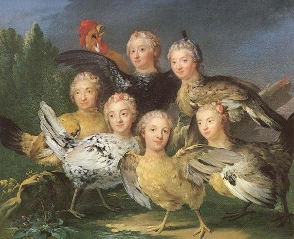 Картина «Hönstavlan» (1747) шведского художника Юхана Паша (Johan Pasch, 1706-17...