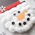Снеговики из ваты и ватных дисков — МК и идеи