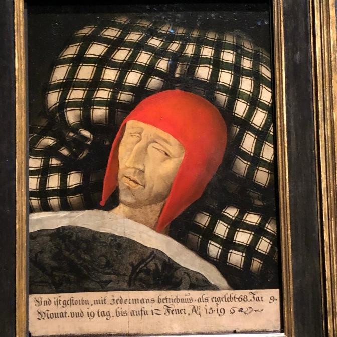 Портрет Максимилиана на смертном одре, написанный спустя некоторое время после его смерти в 1519 году