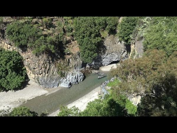Taormina e Gole dell'Alcantara italy in 4K