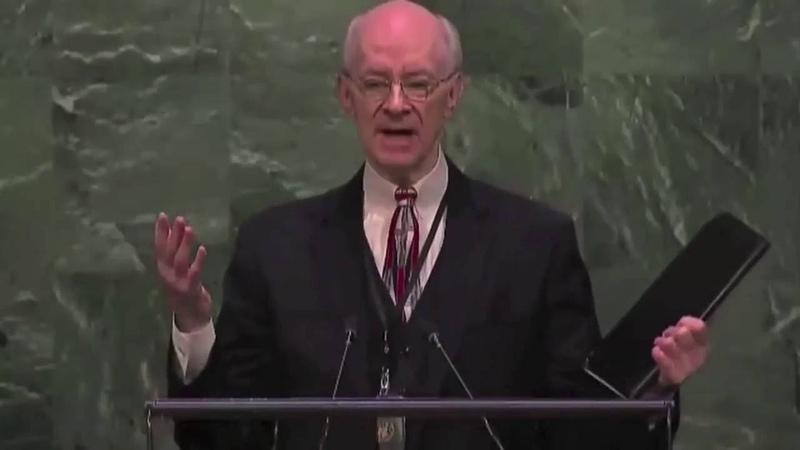 Ли Стоунгинг, Свидетельство о Воскрешении, Генеральная Ассамблея ООН, Нью Йорк, 22 апреля 2015.