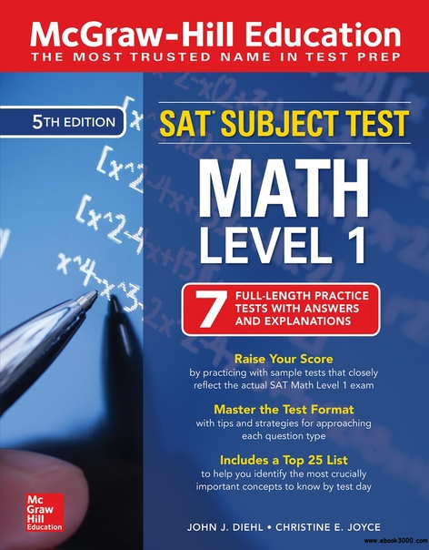 McGraw-Hill Education SAT Subject Test Math Level 1, 5th Edition