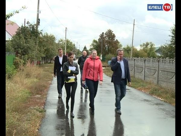 Три из четырех дорог приняты в Ельце комиссия проверила качество выполнения дорожных работ