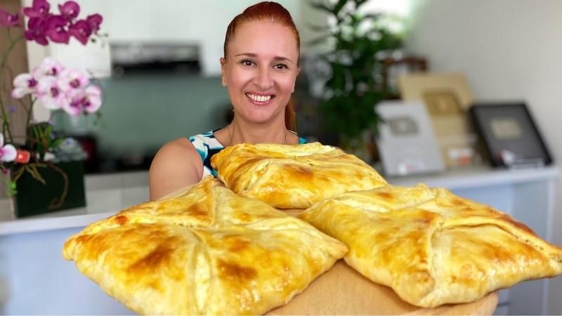 ХАЧАПУРИ из быстрого слоеного теста Лепешка с сыром грузинская кухня Люда Изи Кук cheese flatbread