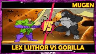Lex Luthor Vs Gorilla Grodd [Hard Fight] MUGEN CHAR