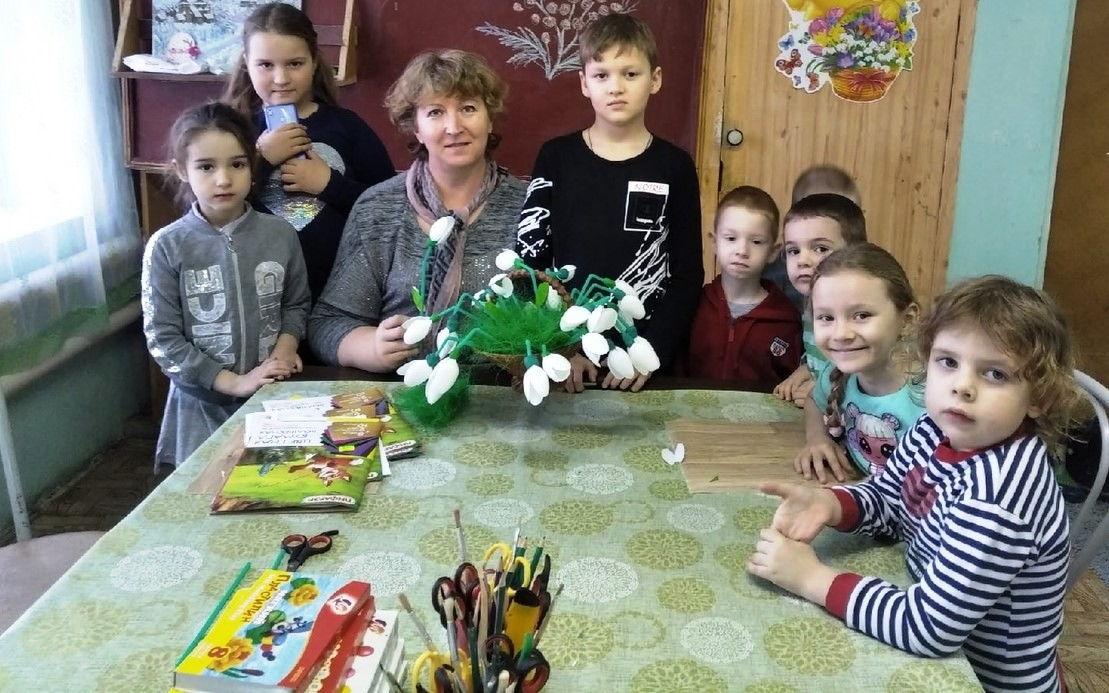 Состоялось занятие детей с педагогом по творчеству 3