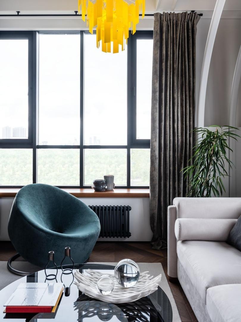 Интерьер-эксперимент: смелая квартира с арт-объектами по проекту Светланы Дикушиной || 01