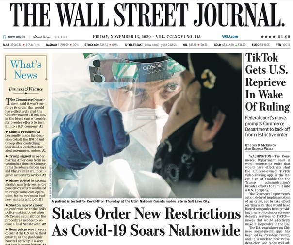 The Wall Street Journal. November 13, 2020