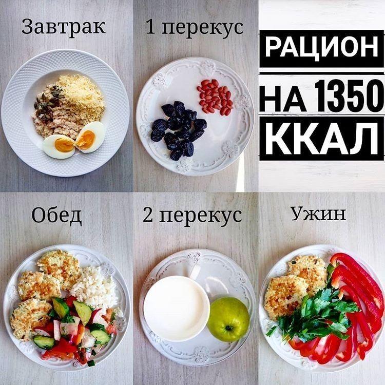 Рацион на 1200-1500 ккал в день