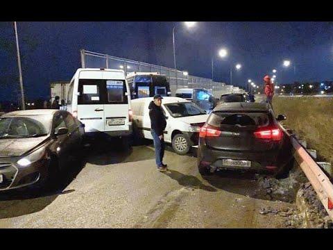 Тринадцать машин столкнулись на Лыткаринском шоссе в Подмосковье