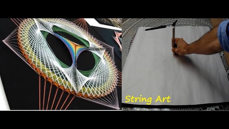 String art boceto o diseño obra 39 piramide fractus