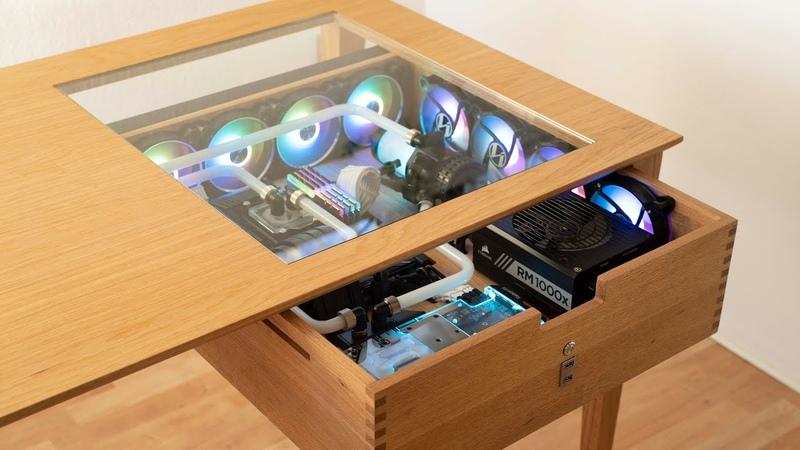 Wooden Desktop PC Build - All Custom Liquid Cooled