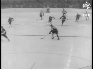 Hawks Win Stanley Cup Hockey (1961)