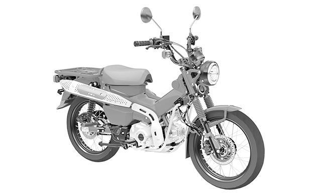 Патентные рисунки Honda CT125