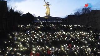 Волгоград присоединился к флешмобу в поддержку Владимира Путина