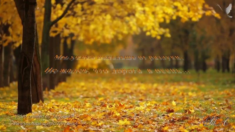 🍁 не жалея что дорога в осень