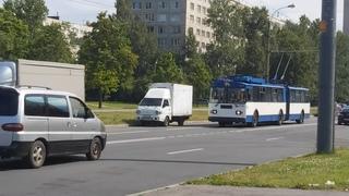 Троллейбус, маршрут №35 ЗиУ-683 БМ1 б.1116 на Будапештской улице у Альпийского переулка () Санкт-Петербург