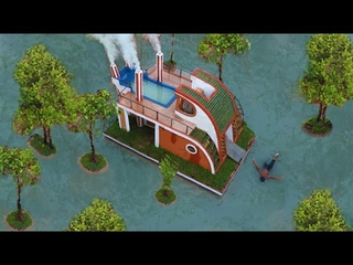 125 Days To Build most Creatively Modern Great Houseboat, Swimming Pool, Water slide (Full Video)
