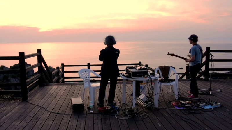近藤等則 in 天草灘 Toshinori Kondo Eiji play to Sunset