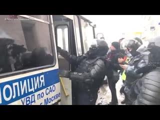 В Москве задержали более 60 участников несогласованной акции