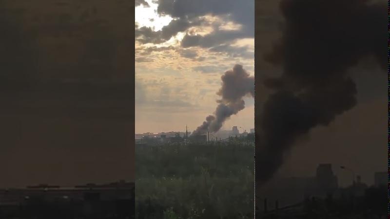 Россия Москва Люберцы ЧП Взрыв на заводе State of emergency Explosion at the factory МЧС