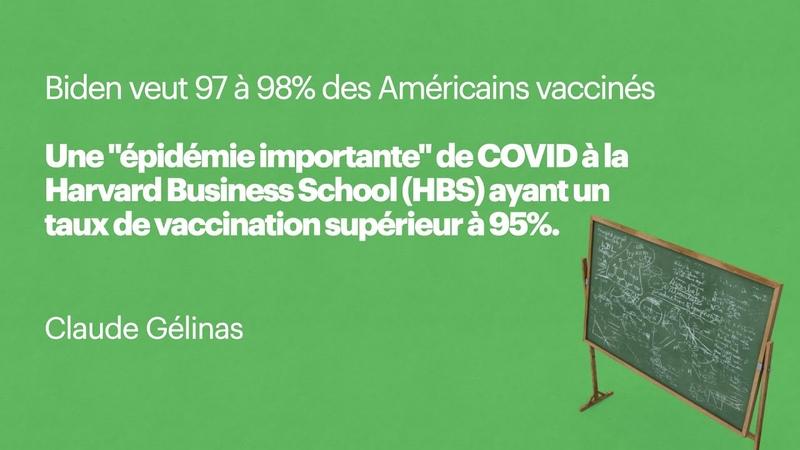 Une épidémie importante de COVID à Harvard ayant un taux de vaccination supérieur à 95%