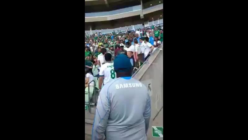 Torcedores expulsos do estádio após se beijarem