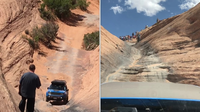Jeep renegade does Hell's Gate on hell's revenge Moab