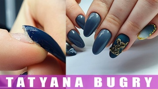 Manicure Correction After 6 WEEKS!   Crystal Mouse Design   Russian E-file Manicure