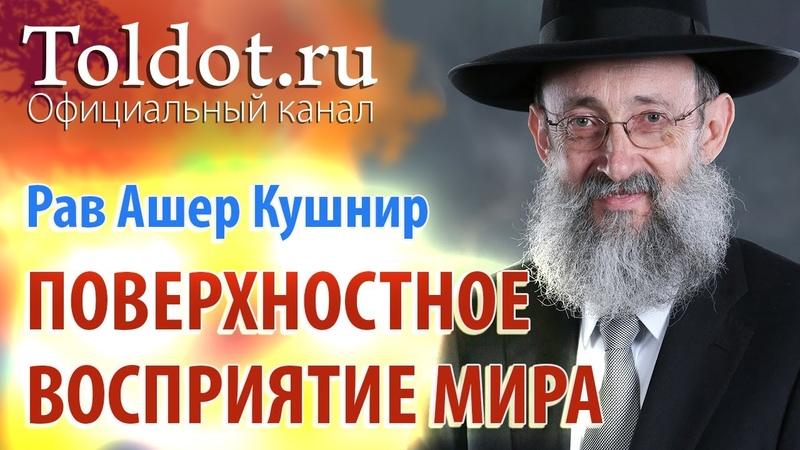 Рав Ашер Кушнир Корень зла поверхностное восприятие мира Месилат Йешарим 2