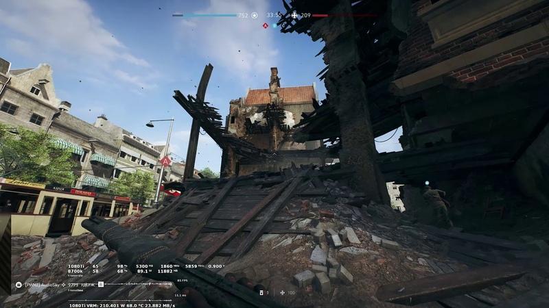 Battlefield V Metro 219 Gameplay 1080ti 3440x1440