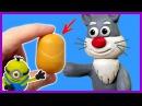 КИНДЕР ЯЙЦА И ПЛАСТИЛИН 😺 ЛЕПИМ МИНЬОНА, ПОПУГАЯ И ЗАЙЦА Kinder surprise egg and plasticine
