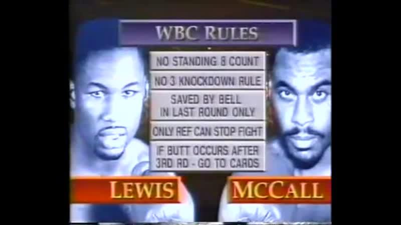 Lennox Lewis vs Oliver Mccall I HBO World Championship Boxing September 24 19